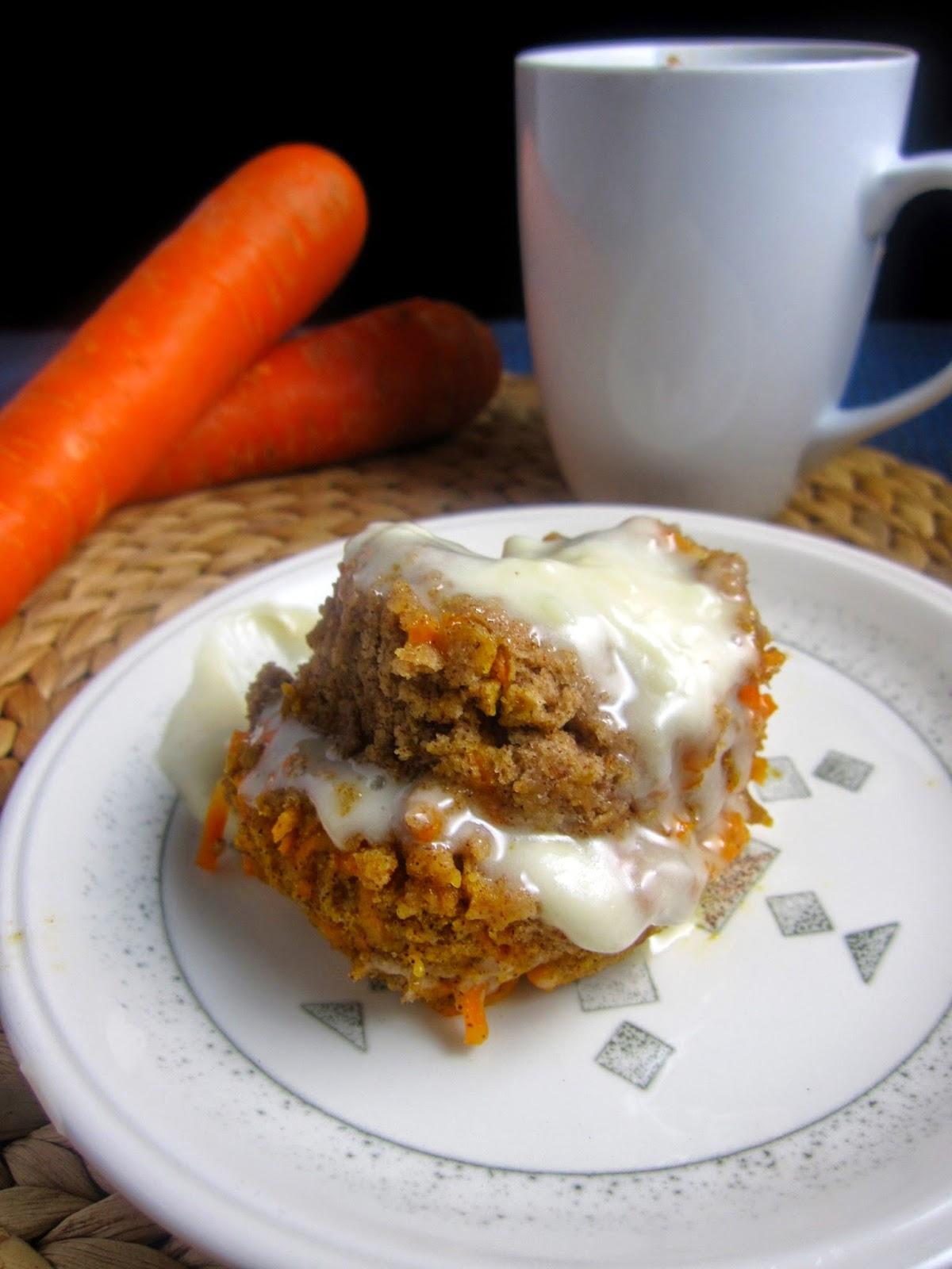 Eggless Carrot Mug Cake