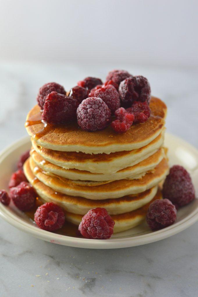 Vanilla Protein Powder Pancakes | A Taste of Madness