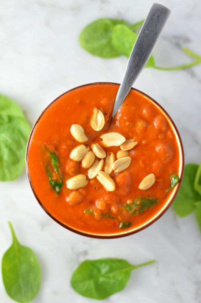 Sweet Potato and Peanut Soup | A Taste of Madness