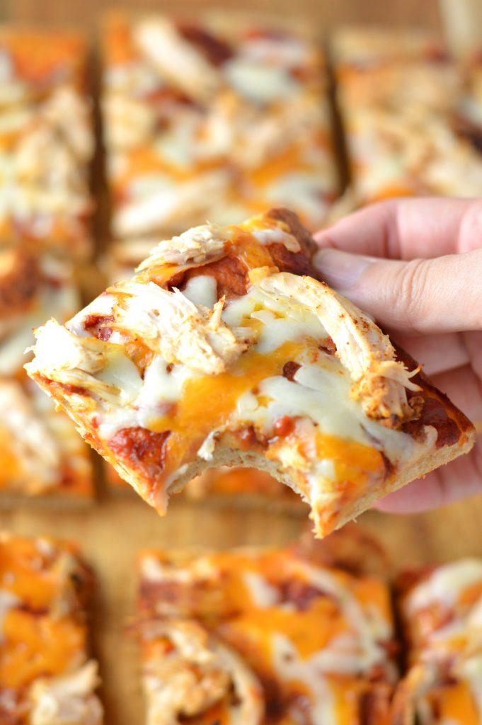 Leftover Chicken Flatbread Pizza A Taste Of Madness