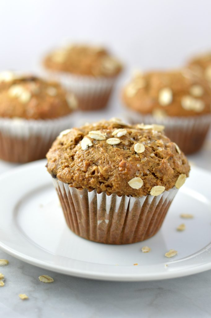 Whole Wheat Banana and Date Muffins | A Taste of Madness