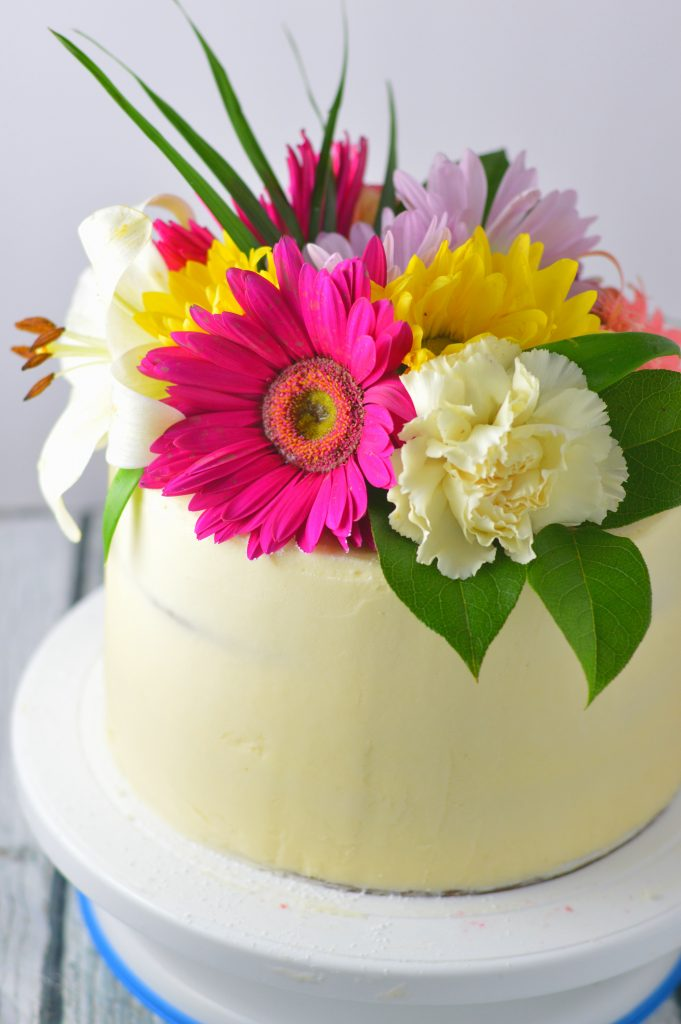 White Wedding Cake with White Buttercream | A Taste of Madness